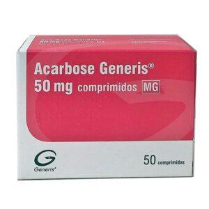 ACARBOSE GENERIS 50MG 50 CP