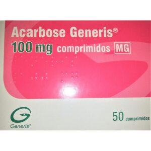 ACARBOSE GENERIS 100MG 50 CP