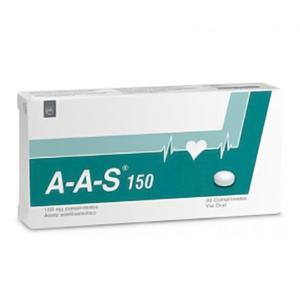 A-A-S (ÁCID ACETILSALICÍLICO) 150MG 30 COMP