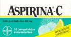 ASPIRINA C (ÁCIDO ACETILSALICÍLICO) 400+240MG 10 COMP EFERVECENTES